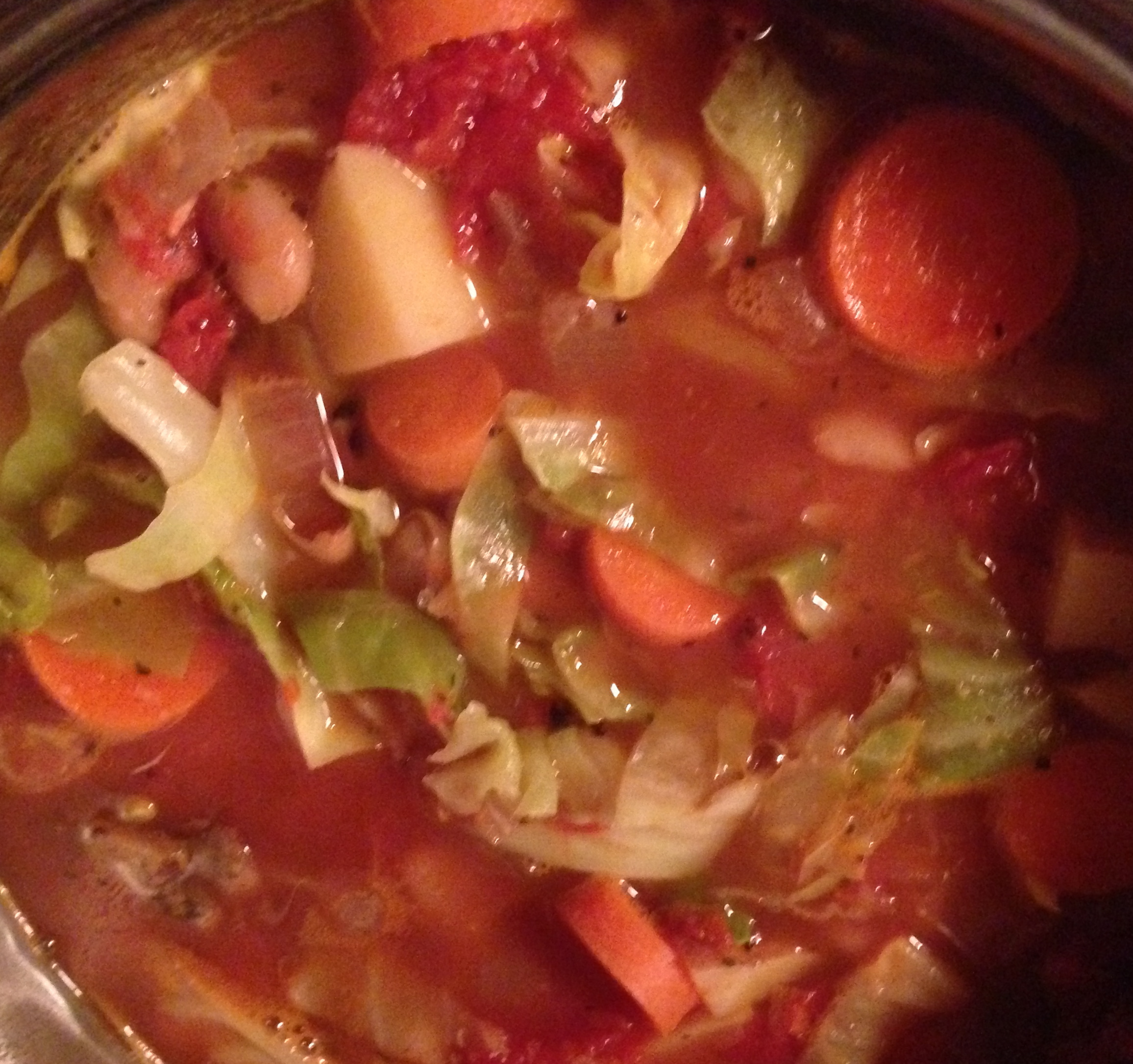 Add shredded cabbage