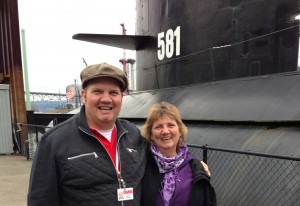 Mark & me at the submarine at OMSI