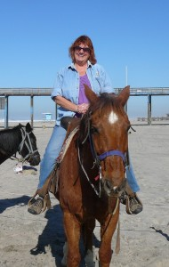 Horseback riding on the beach in Baja