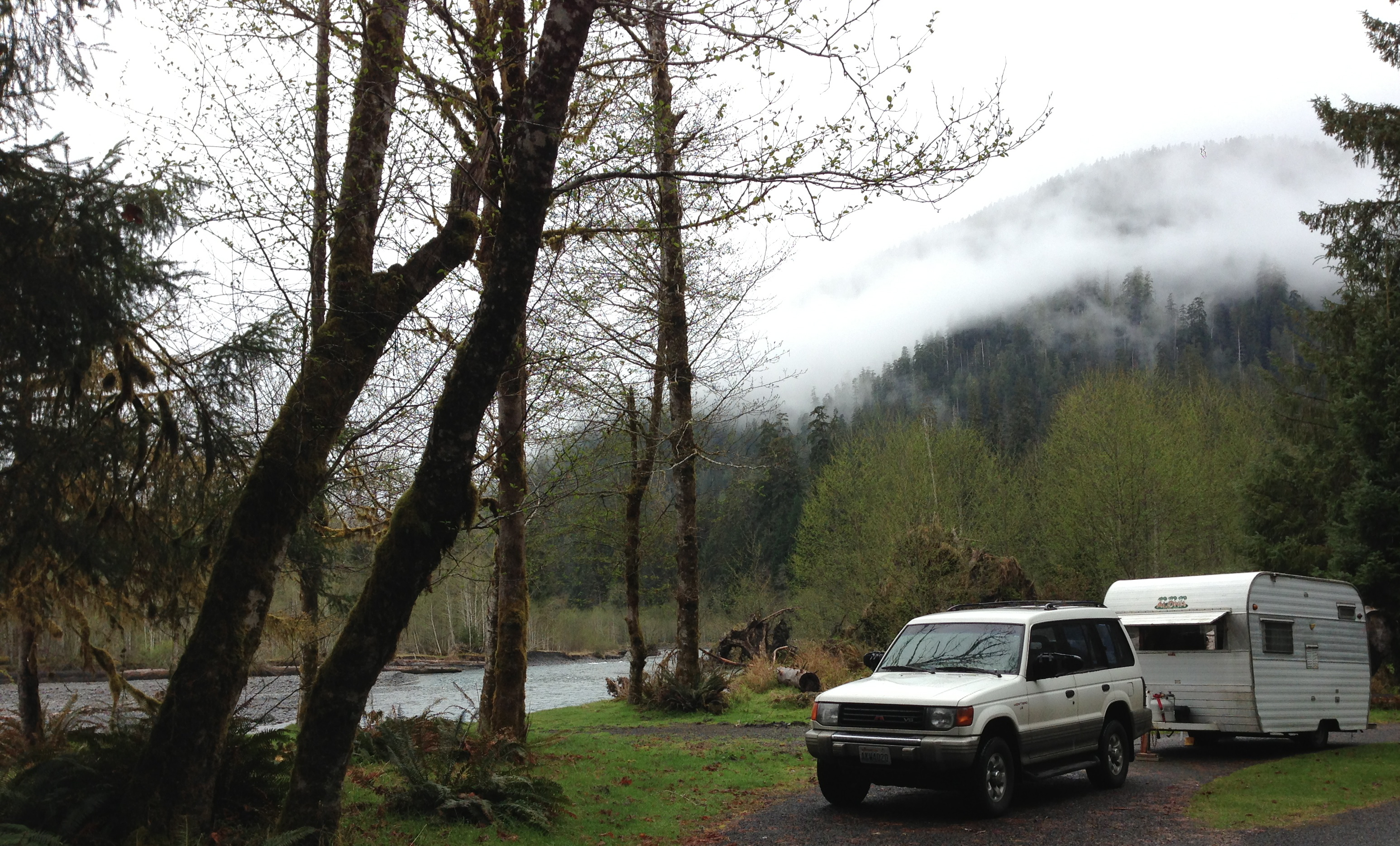 On the Hoh River in the Hoh Rainforest