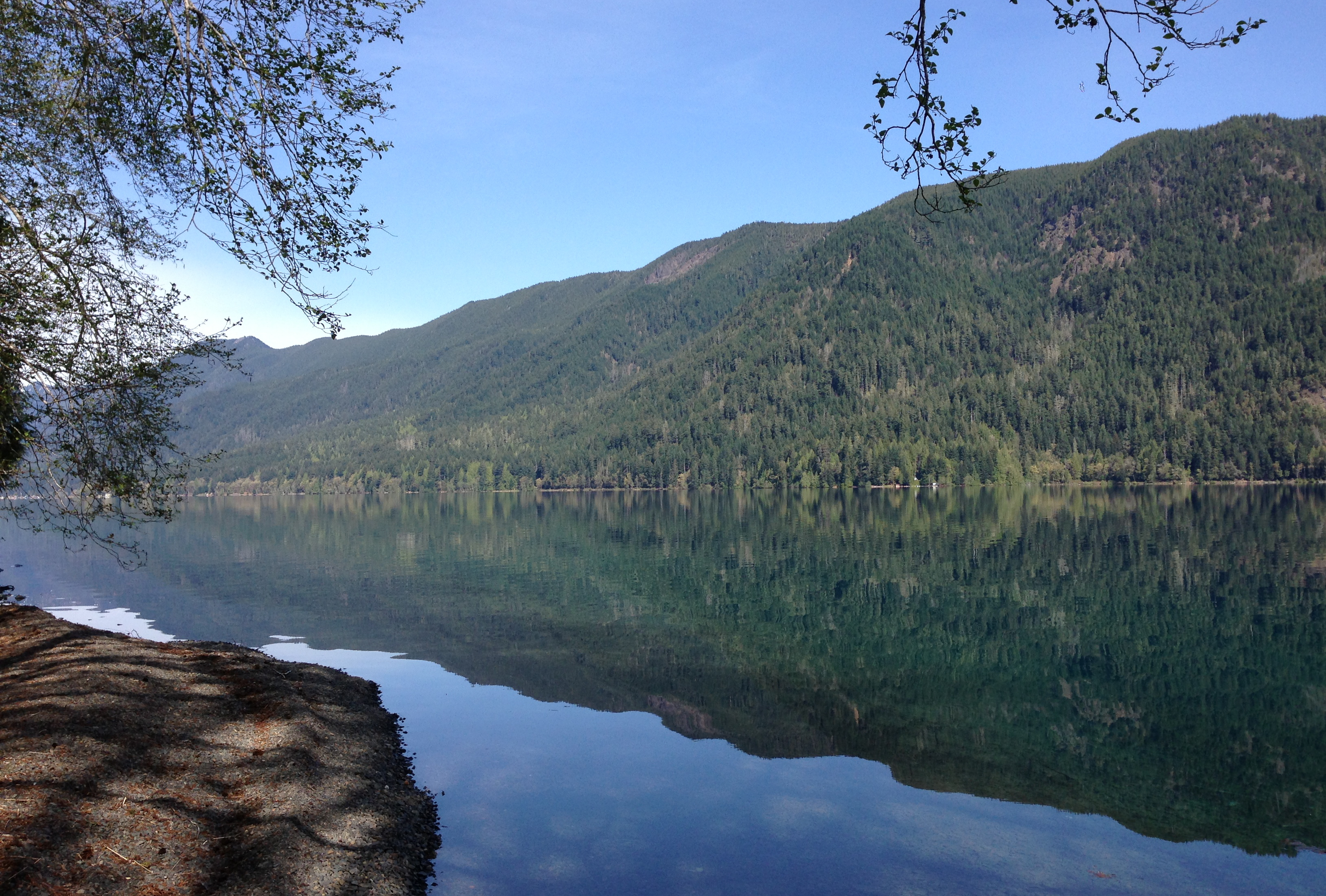 A calm day on Lake Crescent