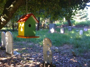 A birdhouse in an old graveyard?  One never knows what one will find...