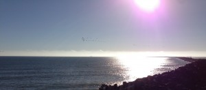 Pacific Ocean in the afternoon sun