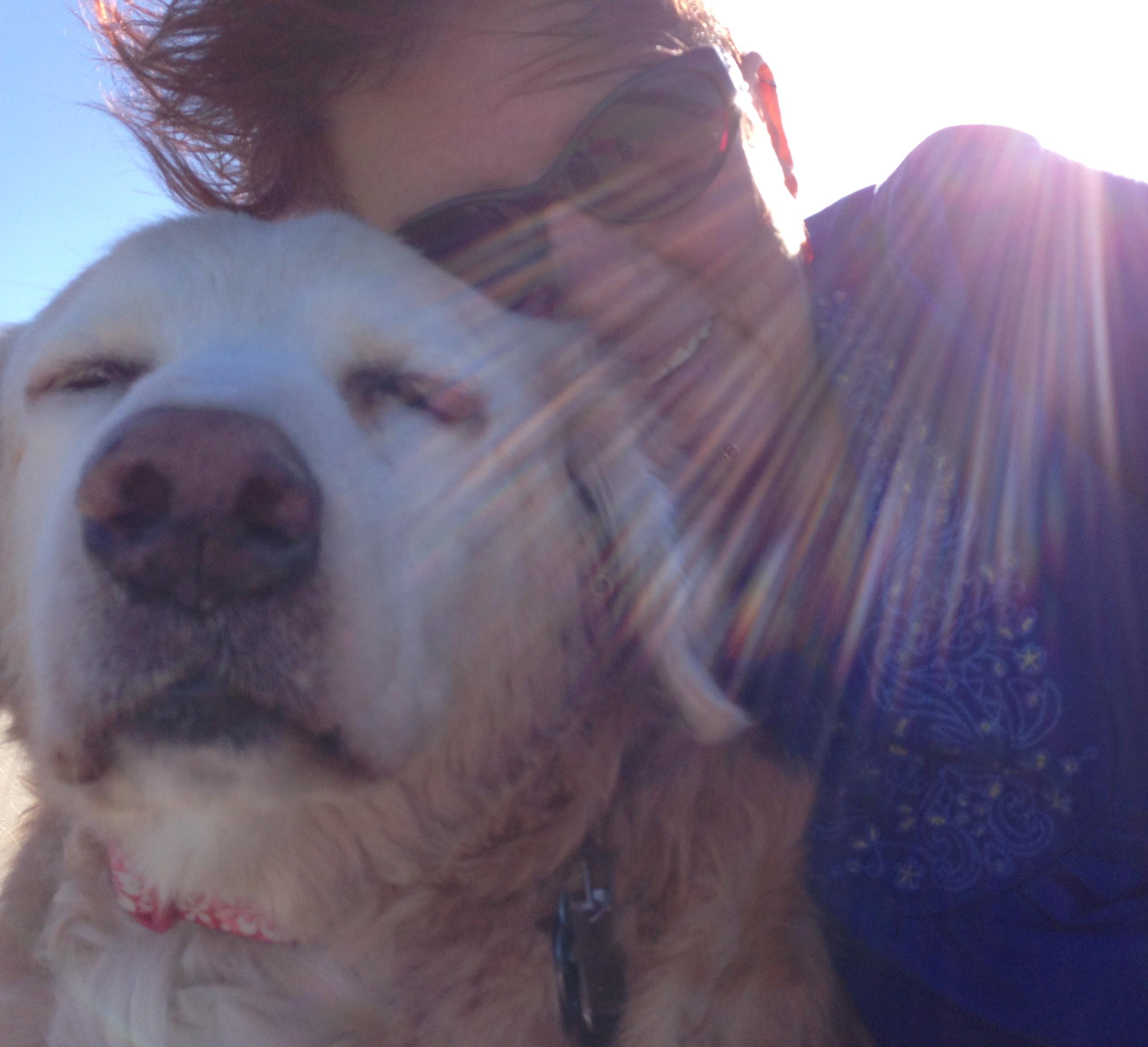 Dinah and me at Birch Bay, WA