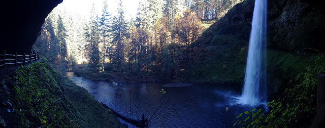 Behind South Falls at Silver Falls State Park