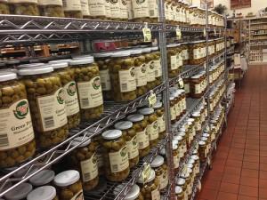 Jars and jars of olives