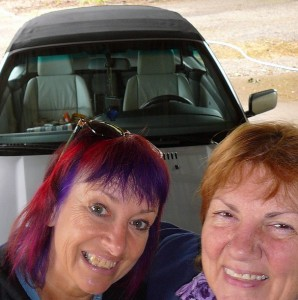 Janice and me and her new car