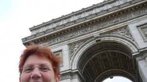 Top of my head at the Arc de Triomphe