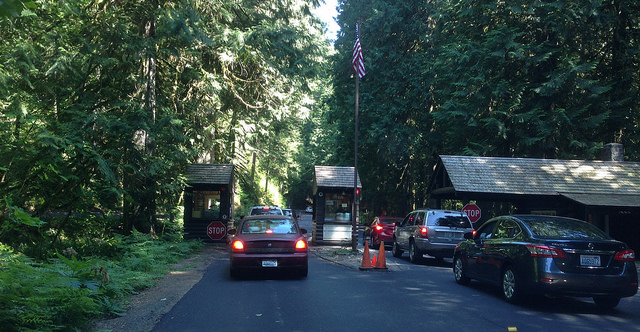 Nisqually Entrance - got my brand new Senior Pass all ready to go!