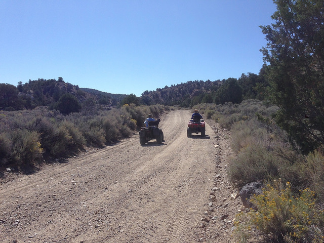 Herman & Colleen on ATVS