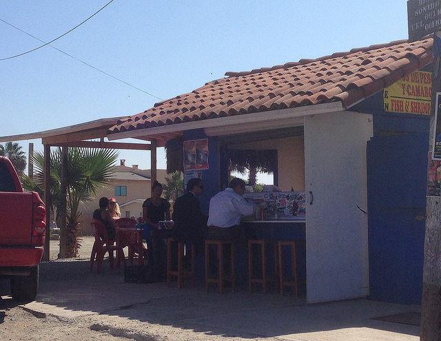 Blue taco shop - the best shrimp tacos and only a buck fifty!