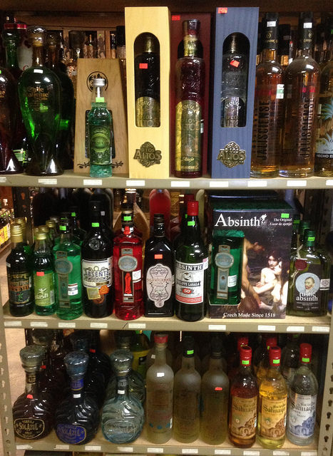 Bottles of the real thing: Absinthe