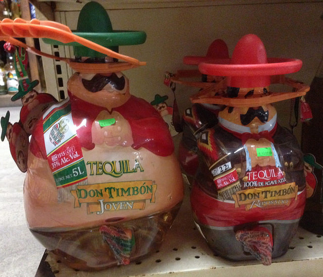 Funny little Mexicans filled with tequila