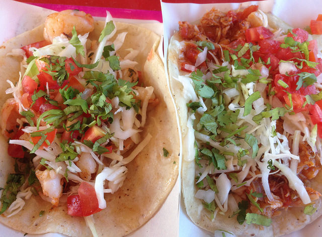 Shrimp & crab  tacos
