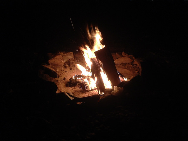 Thanksgiving Day campfire