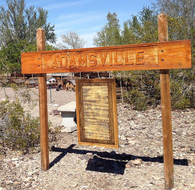 Adamsville sign