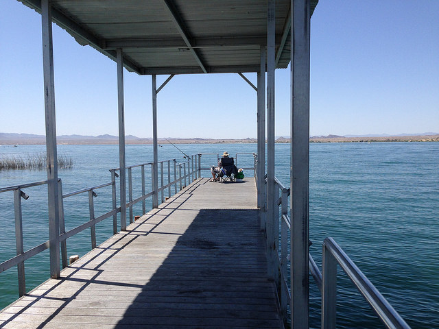 fishing pier at mesquite bay