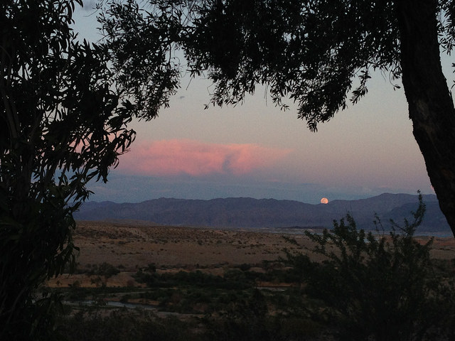 full moon over Lake Mead