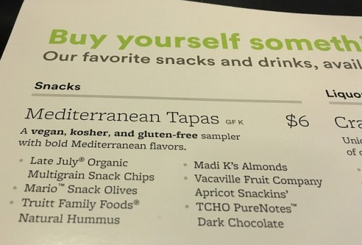Alaska Airline food choice