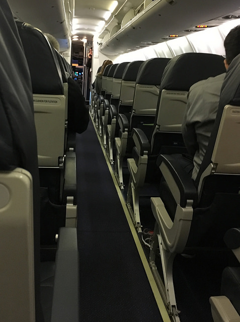 A very empty airplane