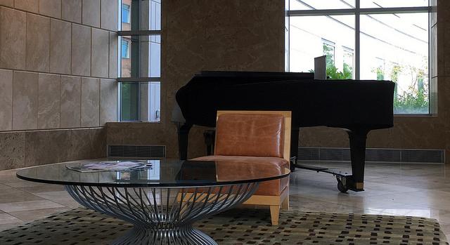 piano in hospital