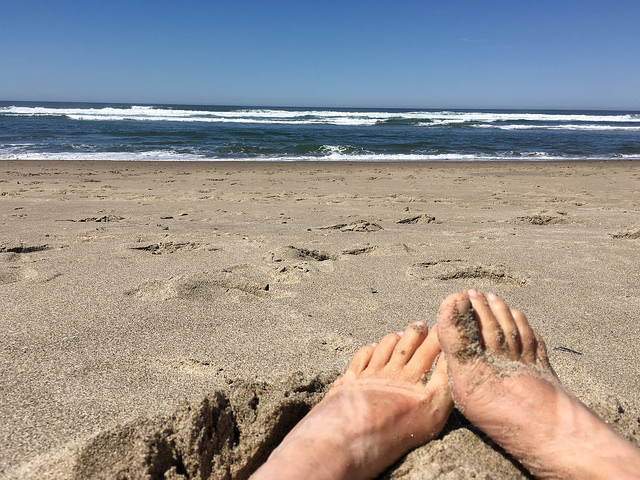 feet at the beach